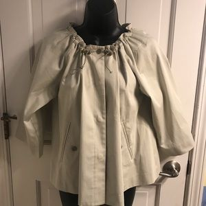 Tan raincoat by Theory